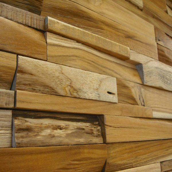 Teak 3D houtstrips