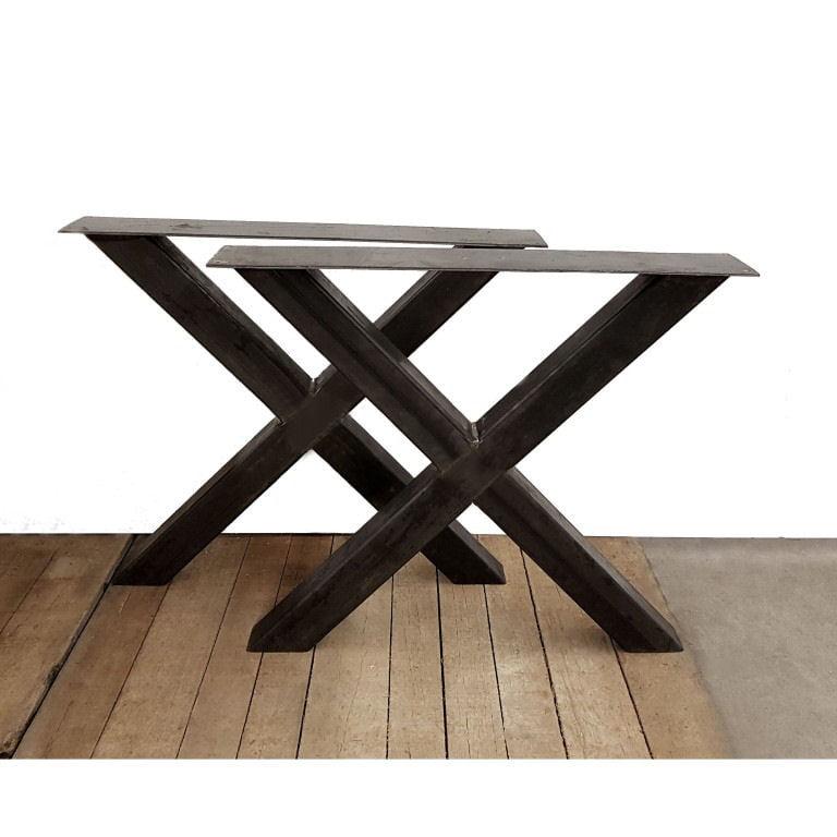 tafelpoot staal blank x poot 8×8 cm 59,50