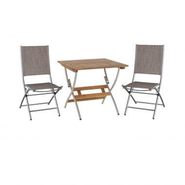 Klaptafel luco vierkant 80x80 cm met 2x sampiano klapstoel