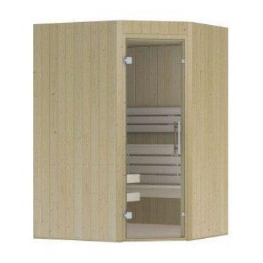 Hot Orange sauna 1410x1680 mm (met schuine hoek NR 9)