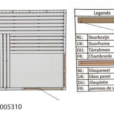 Hot Orange sauna 2130x2130 mm (NR 5 plattegrond)