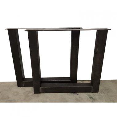 U-poot staal blank 8x8