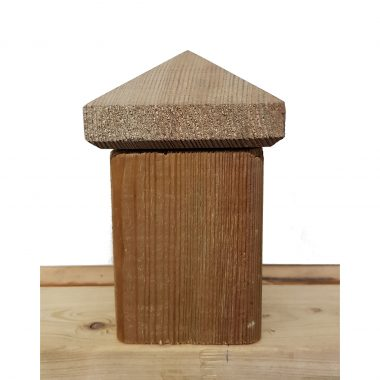 Piramide hout 7x7 cm