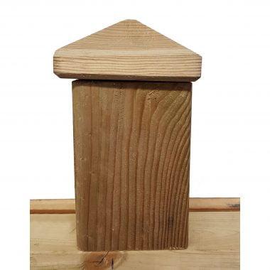 Piramide hout 9x9 cm
