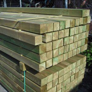 Tuinpaal geïmpregneerd grenen 88x88 mm