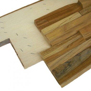 Teak 3D houtstrips wandstrips teakwall