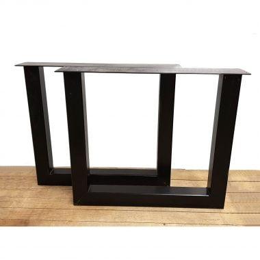Tafelpoot / tafelpoten staal zwart gepoedercoat U-poot 10x10 cm