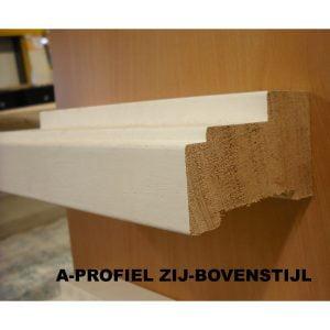 Kozijnhout / kozijnprofiel A-profiel zij-bovenstijl gegrond