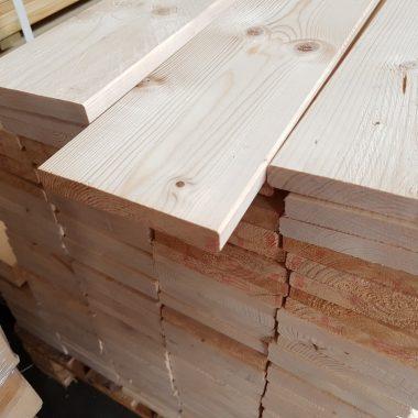 Plank geschaafd