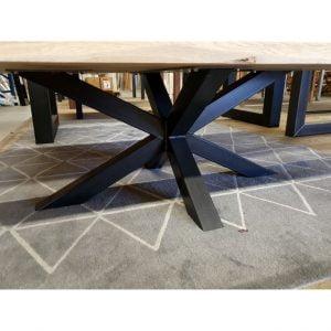 Salontafelpoot zwart gepoedercoat Matrix 6x6 cm