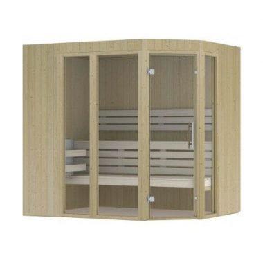Hot Orange sauna 2310x2130 mm (met schuine hoek) (NR 14)