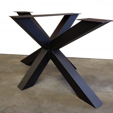 Tafelpoot / tafelpoten staal zwart gepoedercoat Matrix 10x10 cm