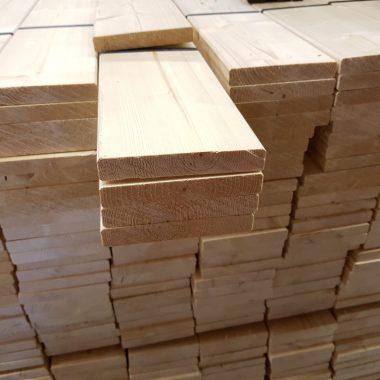 Vurenhout geschaafd 18x117 mm (voordeelbundel)