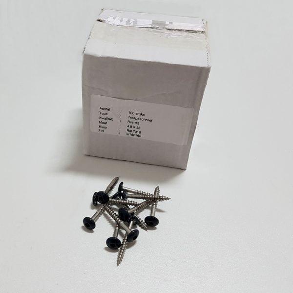 Trespa schroeven / montage schroeven 4.8x38 mm