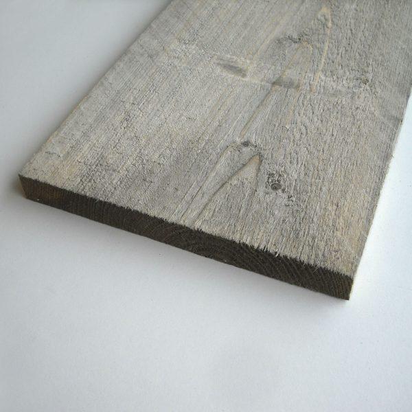 Steigerplank / steigerhout (dunne) cementgrijs 16x180 mm (vers gezaagd)