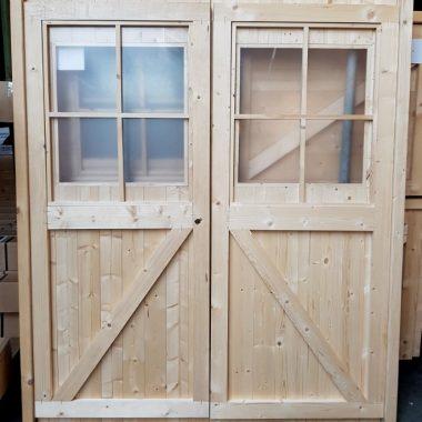Dubbele deur glas 154x177 cm