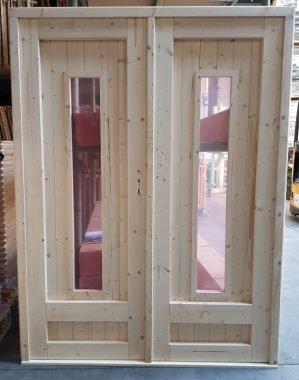 Dubbele deur glas 150x196 cm