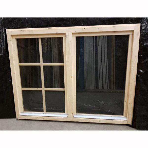 Raam draai-kiep 107x140 cm houten tuinhuis/blokhut raam