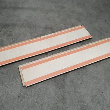 Wit waas mix 3D plakhout / wandpanelen / houtstrips