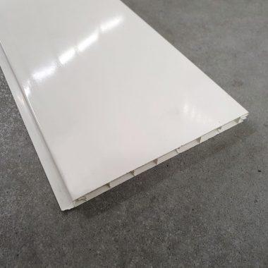 Kunststof plafond/wandpaneel Hoogglans wit 270×15 cm