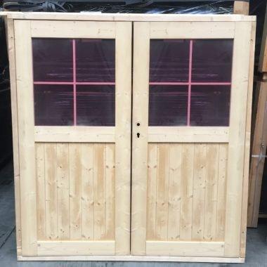 Dubbele deur glas NR 25 blokhutdeur tuinhuisdeur