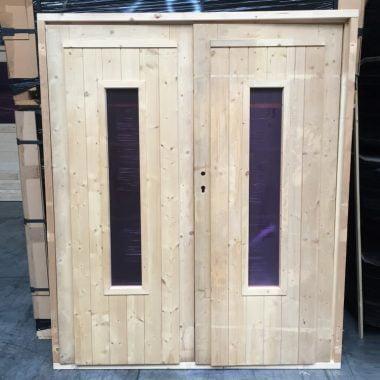 Dubbele deur glas NR 26 tuinhuisdeur blokhutdeur