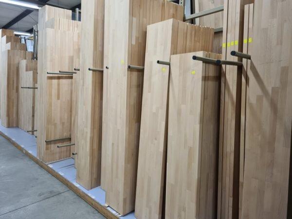 Massief Beuken panelen 40 mm gestoomd