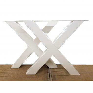 Tafelpoot / tafelpoten staal wit gepoedercoat X-poot 10x10 cm