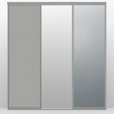 Raffito schuifdeuren - 2 deuren alu 1 deur spiegel