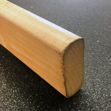 Trapleuning rechthoekig ±27x70 mm beuken (diverse lengtes)
