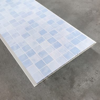 Mozaiek blauw 270x25 cm