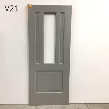 Hardhouten voordeur V21 83x201,5 l+r.