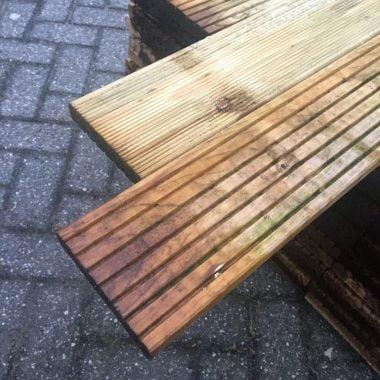Vlonderplank geïmpregneerd grenen 26x140 mm