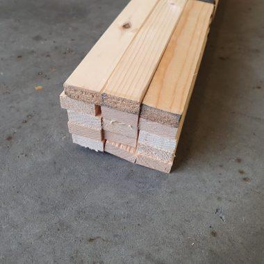 Vurenhout geschaafd 12x35 mm (voordeelbundel)