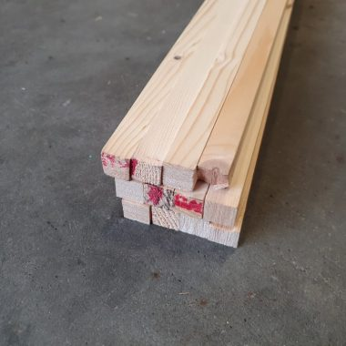 Vurenhout geschaafd 18x18 mm