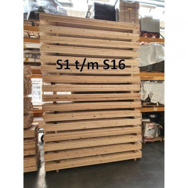 Steigerplank PARTIJEN B-keus onbehandeld S1 t/m S16