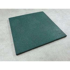 Rubberen tegel 50x50x3 cm Groen