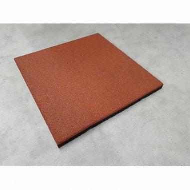 Rubberen tegel 50x50x3 cm Rood