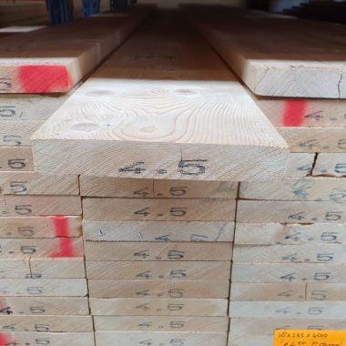 Vurenhout geschaafd 38x235 mm (steigerplank)