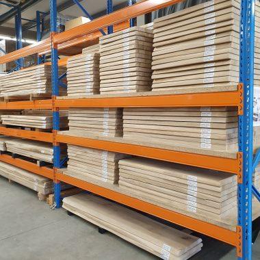 Massief eiken plank/werkblad 40 mm