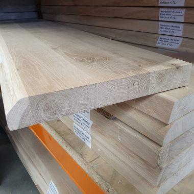 Massief eiken plank/werkblad 40 mm (boomstam/recht)