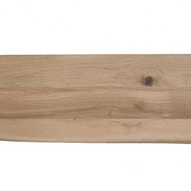 Massief eiken wandplank met boomstamkant 40 mm