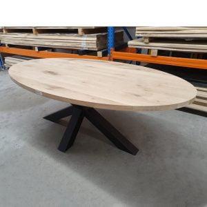 Massief eiken tafelblad ovaal