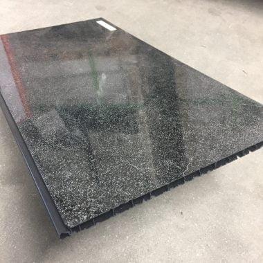 Kunststof plafondpanelen/wandpanelen Starlight black 270x25 cm