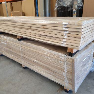 Massief eiken tafelblad 300x100 cm