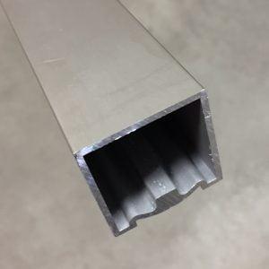 Trapleuning vierkant 40x40 mm RVS-look
