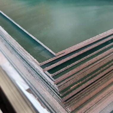 HPL volkernplaat groen-wit 3 mm 130x305 cm