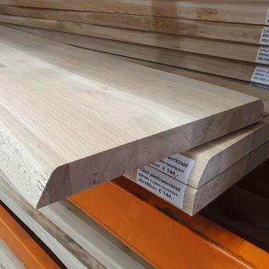 Massief eiken plank/werkblad 40 mm (2 zijden boomstam)