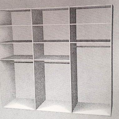 Raffito schuifdeurenkast met 3 deuren (incl interieur)