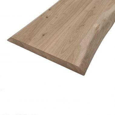 Wandplank met 2-zijden boomstamkant 40 mm.